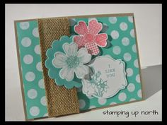 stamping up north....SU only challenge..flowers