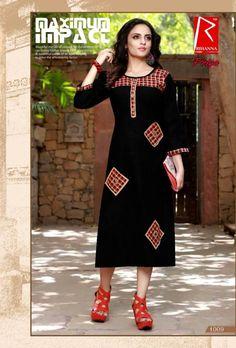 Specification :NAME : Rihanna-PriyaTOTAL DESIGN : 10PER PIECE RATE : 380/-FULL CATALOG RATE : 3800/-+(5%GST) + Shipping ChargeWEIGHT : 4SIZE : L | XL | XXL |Type : Printed KurtisMOQ : Minimum 10 Pcs.Fabric Description : CottonUPCOMING DATE : 28-07-2018 Salwar Suit Neck Designs, Kurta Designs, Saree Blouse Designs, Kurta Style, Long Dress Design, Edwardian Dress, Kurti Designs Party Wear, Indian Designer Wear, Indian Outfits