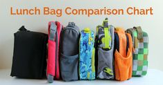Lunch Bag Comparison -- all the details about 7 popular brands, PLUS which lunch boxes fit in them! She's my hero!