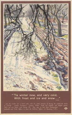 Poster; Winter walks, by Laura Knight, 1957