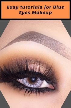 When you just apply the natural brown shadow and some mascara, your pure beauty look will make you a smart fairy from heaven. Blue Eye Makeup, Eye Makeup Tips, Skin Makeup, Makeup Eyeshadow, Beauty Makeup, Pure Beauty, Beauty Tips, Beauty Hacks, Pretty Blue Eyes