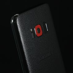 Samsung Galaxy S8 - Black Leather and Red Leather Skins