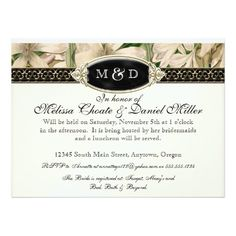 Baroque Vintage Lily Gold Formal Couples Shower