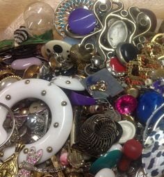 Jewelry and Bead and Bling Destash - Mixed Media, Collage or Upcycle Haul - Lot 7