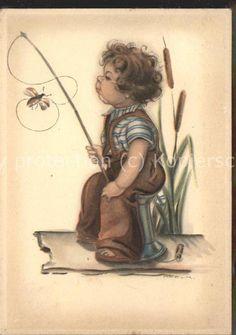Peyk Hilla Kind Fliegenfischen / Kuenstlerkarte / 0