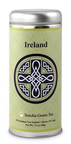 Irish Celtic Cross | Irish Tea | St. Patrick's Day | The Tea Can Company Irish Tea, Sencha Green Tea, Different Types Of Tea, Tea Favors, Premium Tea, Irish Celtic, Fun Cup, Tea Pots, Canning