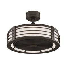 Bantry drum ceiling fan semi flush fan small ceiling fan sw beckwith oil rubbed bronze 23 inch ceiling fan with black blades and opal white glass aloadofball Image collections