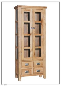 ELEPHANT  FURNITURE - Vancouver Value - Small Display Cabinet (780mm x 360mm x 1875mm High) - V V-SD033