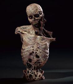 Creature 3d, Creature Concept, Creature Design, Arte Zombie, Zombie Art, Zombies, Scarecrow Mask, Dark Drawings, Evil Art