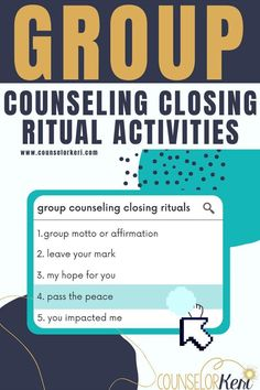 Looking for meaningful ways to end group counseling? Check out these 5 group counseling closing rituals to use with your students! Group counseling activities for the last session of group. Group counseling lesson plans for elementary school counseling and middle school counseling last session of group. -Counselor Keri Group Counseling, Middle School Counseling, Elementary School Counselor, Counseling Activities, Elementary Schools, Social Emotional Learning, Social Skills, Social Work, Guidance Lessons