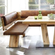 Esszimmermöbel eckbank  Massiver Baumstamm Tisch MAMMUT 220cm Akazie Massivholz Holzbeine ...