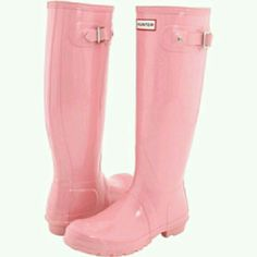Wanted Pink Hunter Boots Size 7