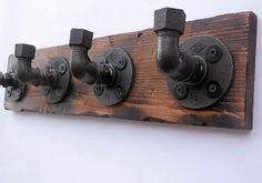 wood & pipe coat rack