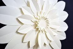 Extra large paper flower for wedding decoration by comeuppance