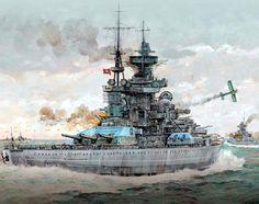 Operación Cerbero, el Scharnhorst (en primer plano) y el Gneisenau cruzan el Canal de la Mancha. Más en www.elgrancapitan.org/foro