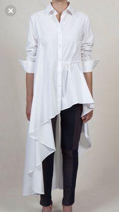55 Ideas For Style Hijab Kemeja Putih Modest Fashion, Hijab Fashion, Love Fashion, Fashion Dresses, Fashion Design, Iranian Women Fashion, White Shirts, Blouse Styles, Blouses For Women