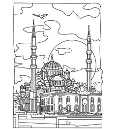 Cities coloring page | Colorish: free coloring app for adults by GoodSoftTech