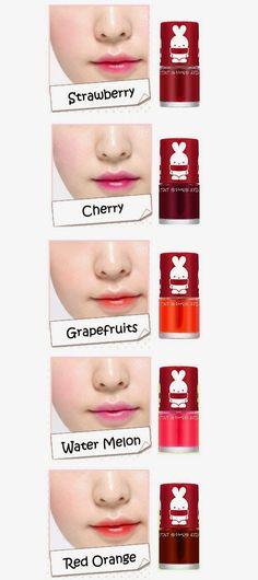 Review: Apieu Soochebit Pure Tint with Bootoo Korean Makeup Tips, Asian Makeup, Makeup Lipstick, Makeup Cosmetics, Cute Makeup, Beauty Makeup, Korean Lip Tint, Best Makeup Products, Pure Products