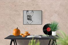 Hand made illustration: French Bulldog, original picture hand-signed, unique piece, free dispatch #DogLoverGift #CustomDogPortrait #FrenchBulldog