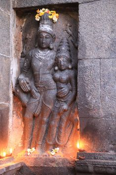 In the koshtam -Shiva & Parvathi Hindu Temple, Shiva, Krishna, Indian Gods, Ganesha, Sculptures, Statue, Creative, Temples