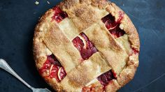 Big fat strips of dough make for a rustic and modern-looking strawberry lemon pie (and they're easy to weave into a lattice). If you're in love with a thinner style, or love using a fluted cutter, we won't stop you.
