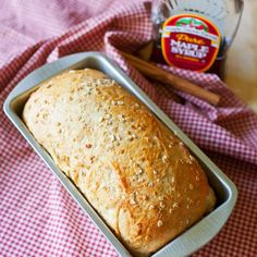 Maple Oat Bread Recipe Breads with hot water, rolled oats, maple syrup, butter, salt, cinnamon, bread flour, instant yeast, water, brown sugar, rolled oats