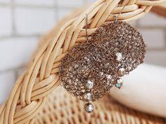 Circle wire wrapped seed bead earrings bead by RasaVilJewelry, €16.00