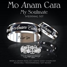 4fd537e79c99 Second Life Marketplace - Exquisite Mo Anam Cara White Gold Wedding  Collection Gift Box