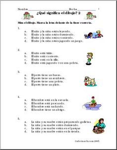 Spanish: Frases y dibujos (2) - preview 1