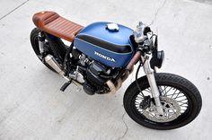 Seaweed & Gravel's Honda CB750 'Babe Blue' Cafe Racer