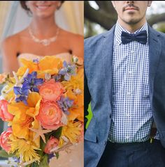 Coral/Navy Wedding