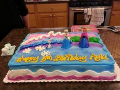 Frozen Half sheet birthday cake My Birthday Cakes Pinterest
