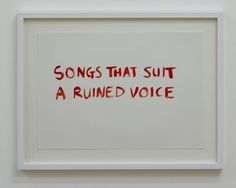 »a ruined voice« by tim etchells (+)