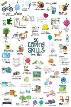 Coping Skills for Kids. Fun School Counseling Lesson, Collage Craft, Poster and Sorting Activities! Stress & Anger Management Self-Regulation Coping Tools Counseling Activities, Sorting Activities, Group Counseling, Time Activities, Outdoor Activities, Calming Activities, Anger Management Activities For Kids, Preschool Behavior Management, Aba Therapy Activities