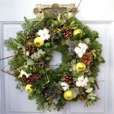 woodland blueberry christmas wreath