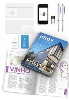 Identidade Visual e Revista Imov  Projeto: Maena  www.maena.com.br