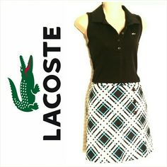 Lacoste Sleeveless Polo -black sz 12/EUR sz 44 Awesome Lacoste polo in back. Perfect for golf! Great condition. Lacoste Tops