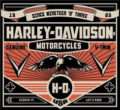 Harley-Davidson Logos by Katie Siddell, via Behance