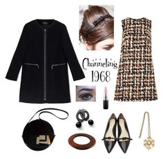 """Channeling 1968"" by laineys on Polyvore featuring Precis Petite, Dolce&Gabbana, 3.1 Phillip Lim, Pierre Cardin, Karl Lagerfeld, Trifari and MAC Cosmetics"