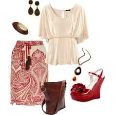 Natural summer, created by mkimlin on Polyvore
