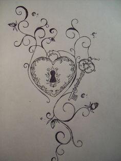 lock and key tattoos - Google Search | Cool tats | Pinterest