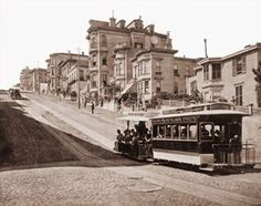 Pretty cool photo of San Fran's old transportation system. I guess the photo was around the 1870's...