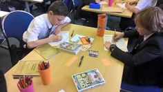 Y7 students working hard on Remembrance Day. Using @tompalmerauthor book in their new reading programme!! #overtheline #lestweforget
