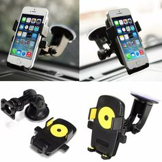 360 Degree Car Holder Wind Shield Mount Bracket Stand Mobile Cell Phone GPS PDA