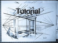 How to draw an Interior / perspective and landscapes / #7