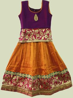 South Indian traditional pavadai www.princenprincess.in