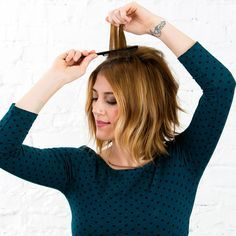 This Is the 1 Trick You Need to Make Every Hairstyle Look Better via Brit + Co