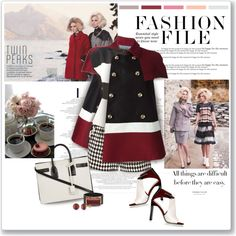 Twin Peaks by helleka on Polyvore featuring мода, Etro, Dsquared2, sass & bide, Reed Krakoff, Yves Saint Laurent, Marni and Miadora
