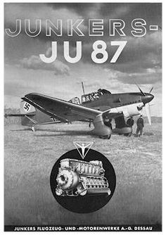 Ju-87 B Stuka y motor Jumo 211