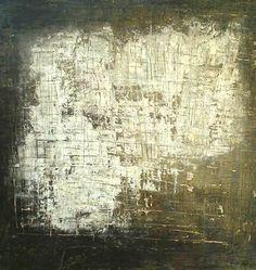 """""""Caminando a la luz de la luna"""" Mixta Sobre madera 99 x 99 cm 2015. Vendido"""